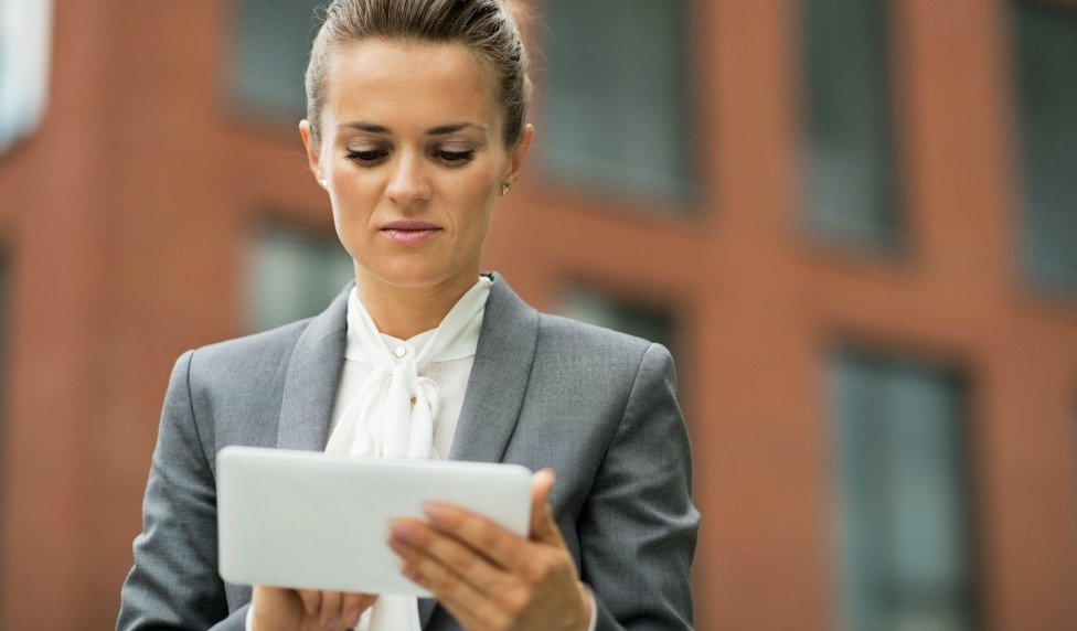 Event planner using tablet