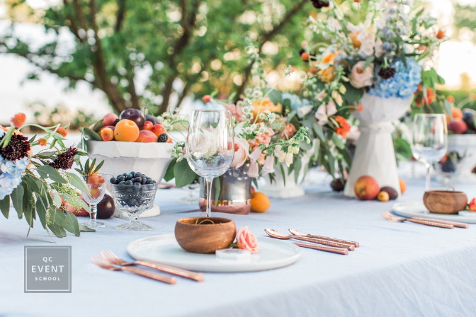 simple centerpieces featuring fruit for take home