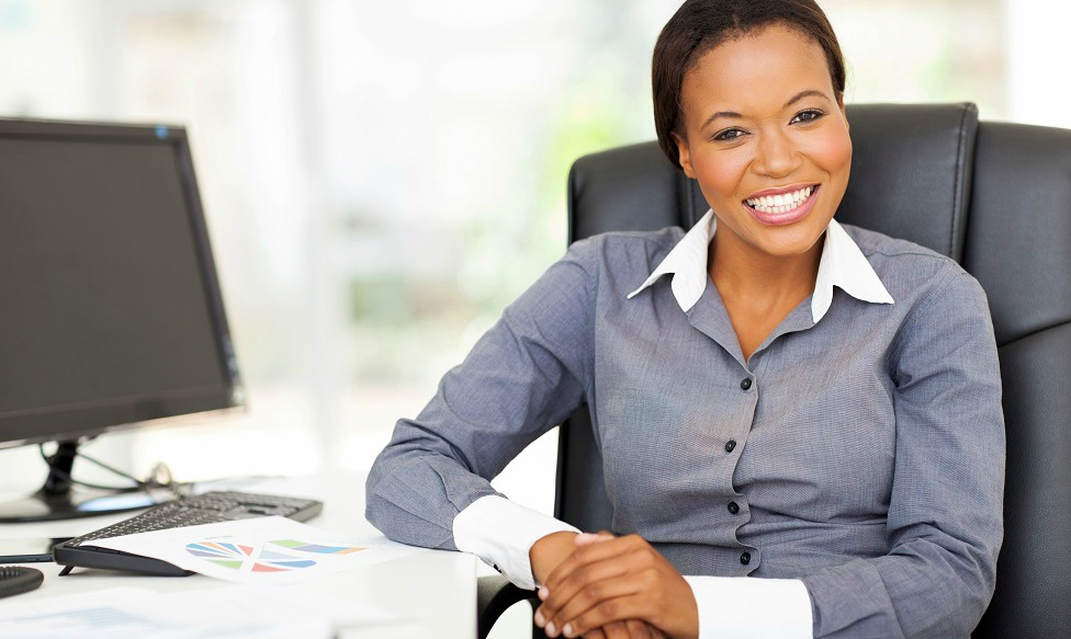 Professional woman starting a small business