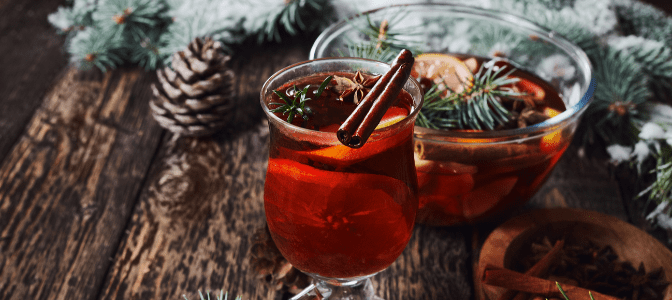 holiday-themed drink
