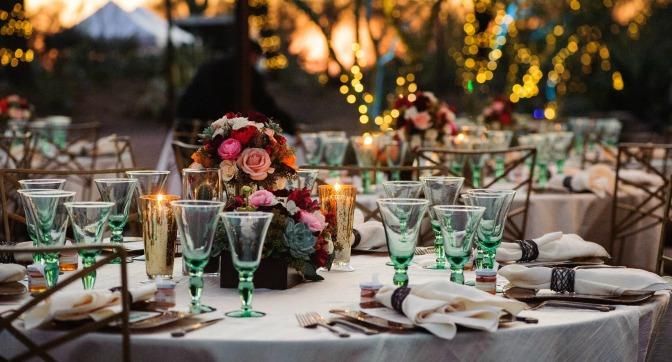 Desert botanical gardens table spread