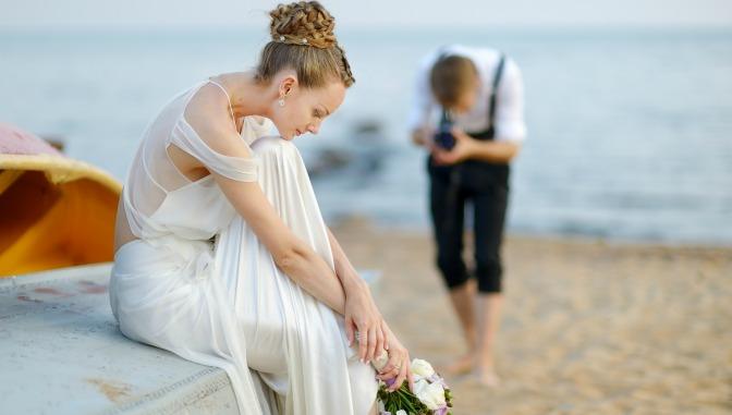 Wedding styled shoot on a beach