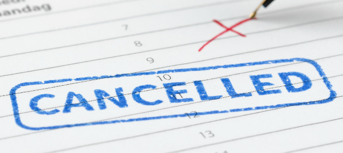 Your client has just cancelled their event! What is the first thing you should do?