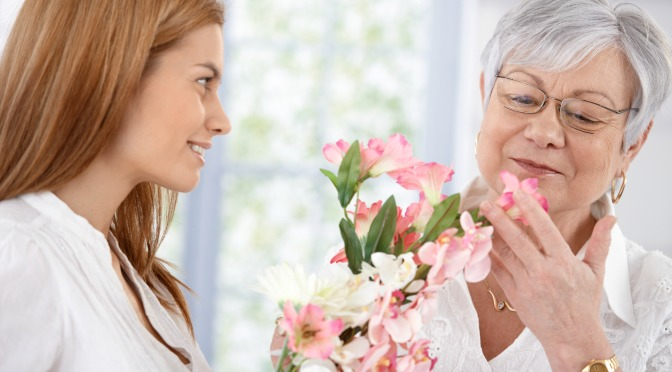 Giving flowers for Mother's Day