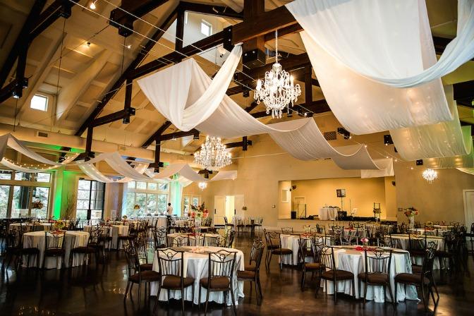 Wedding reception setup by Chelsea Steffek