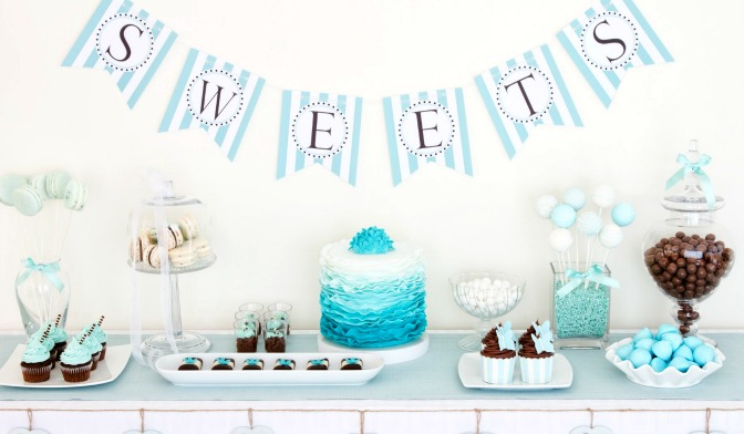 Dessert table at a party