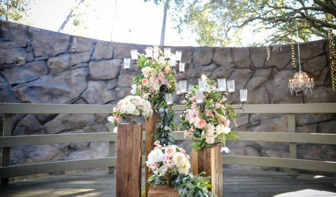 Wedding altar. Planned by Regina Osgood, photography by Half Full Photography