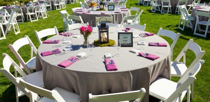 Summer wedding banquet