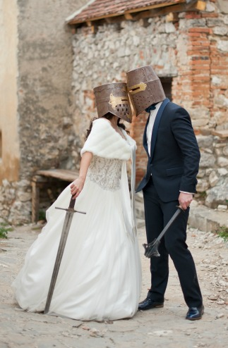 Do you really want your wedding photos to look like they came from Medieval Times?