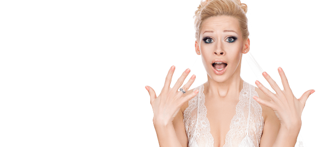 frazzled bride freaking out