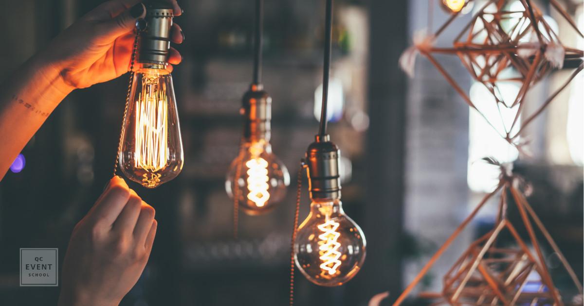 event decor lighting vintage lightbulbs