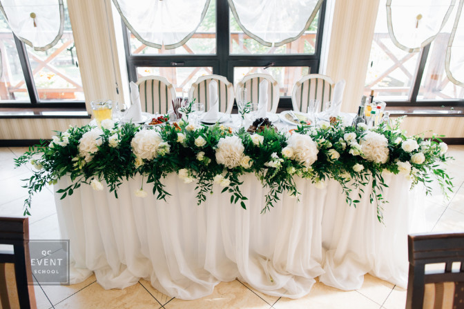 head table wedding decor for an event