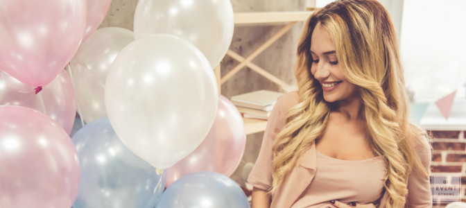 throwing a modern baby shower as a certified event planner