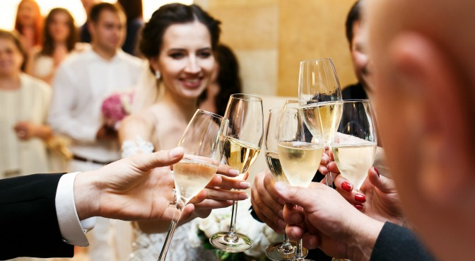 Some couples want to spend the reception circulating between guests