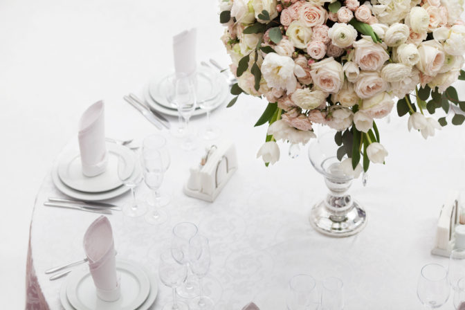 luxury flowers on a table