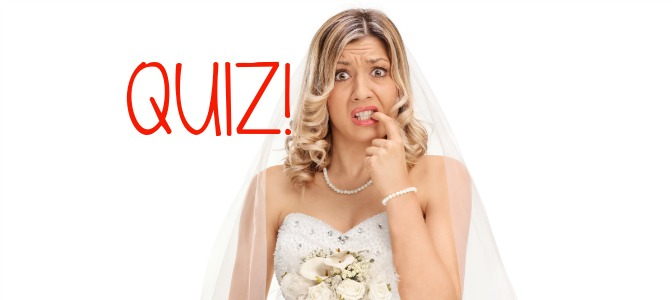 wedding jargon quiz