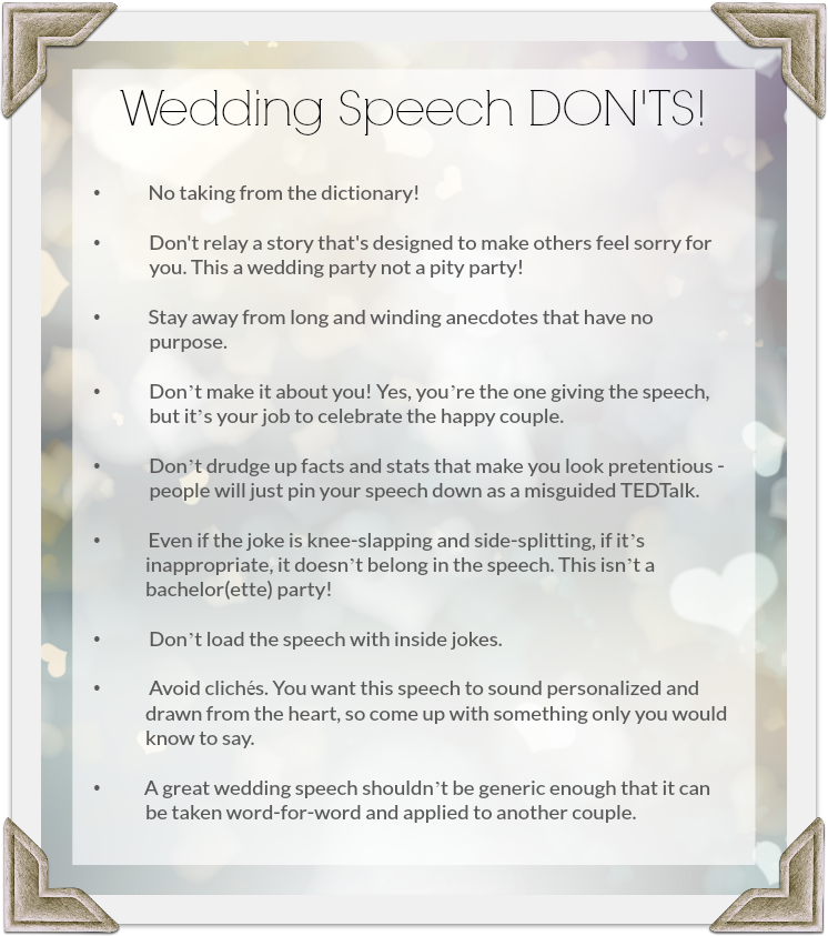How To Give A Good Wedding Speech
