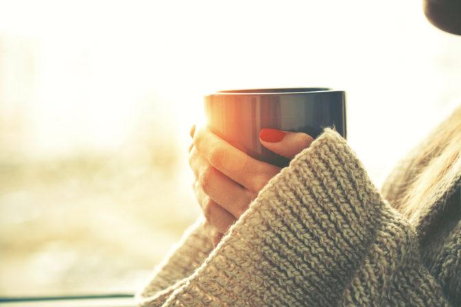 ritual tea drinking relax