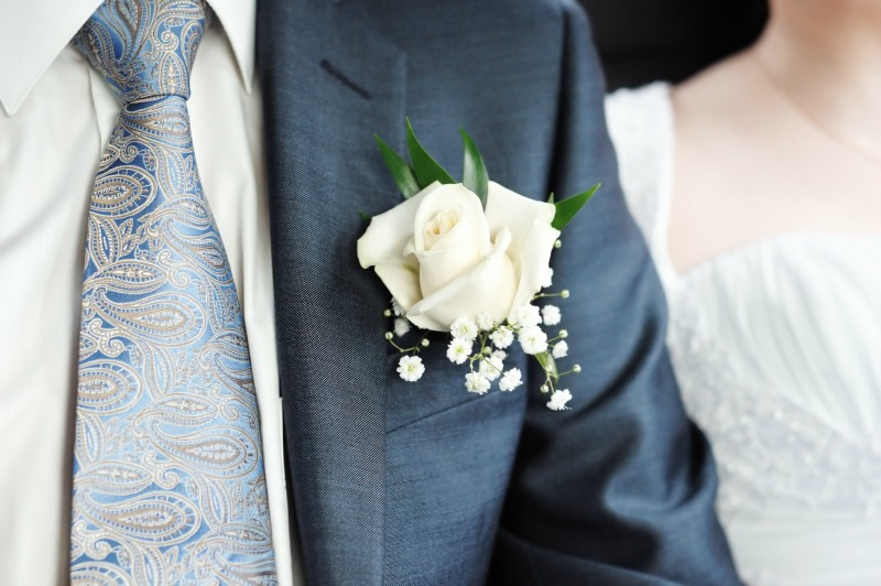 9. Boutonnieres and corsages can be made 2 days ahead of time, like the floral centerpieces.