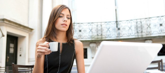 Social Media for Event Planning Woman with laptop