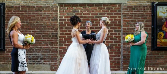 Same Sex Wedding Two Brides
