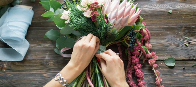 You have a consultation with a new florist. The first thing you do is:
