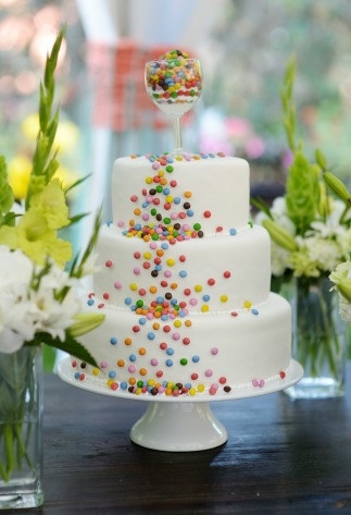 Themed Wedding Smarties Cake