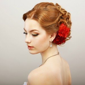 Teased updo