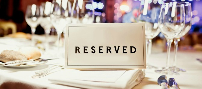 Reserved Sign made with Event Planning