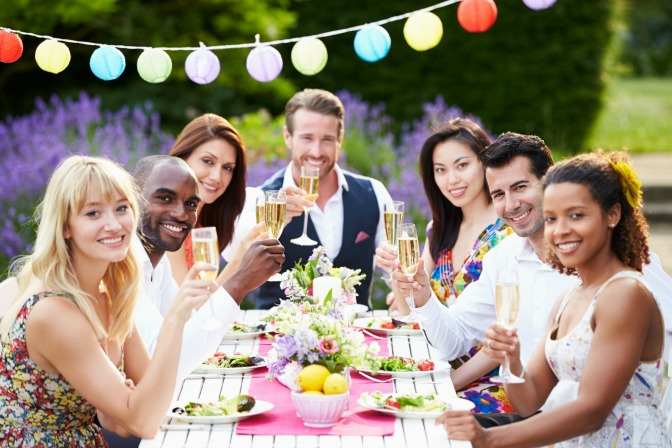 Wedding party waiting for worst wedding toast ever