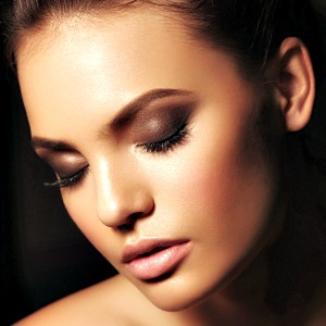 Dewy skin and sun kissed bronzer