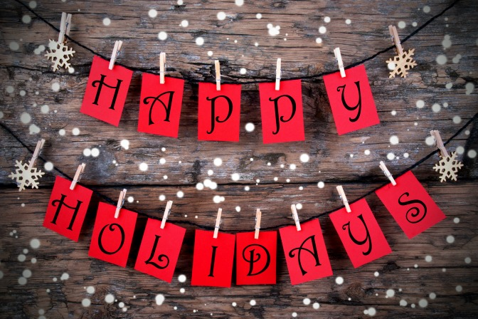Happy Holidays sign DIY for holiday party decor