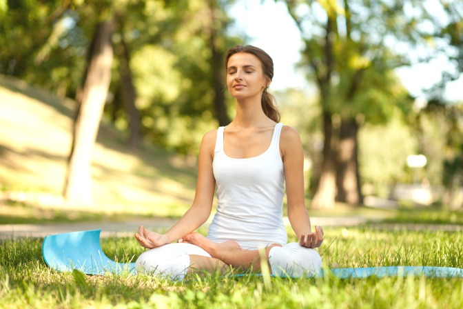 Practice yoga to relax after a stressful event season
