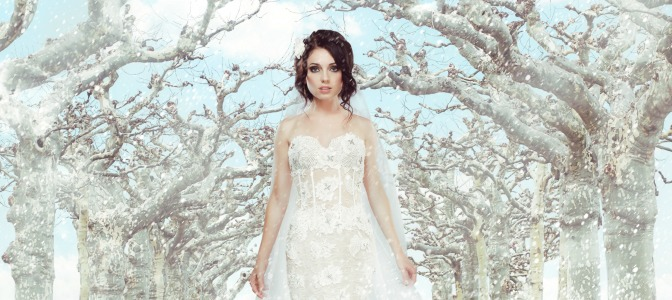 What's the most common characteristic of a winter wedding dress?