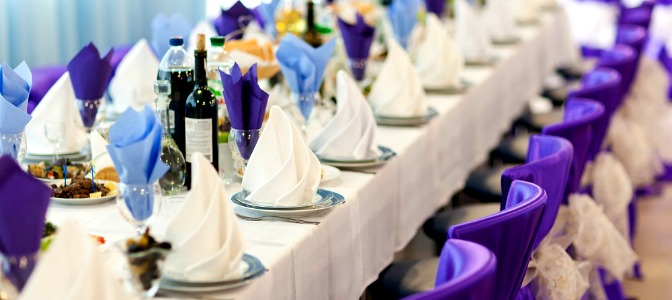 Purple color scheme for certified wedding planners