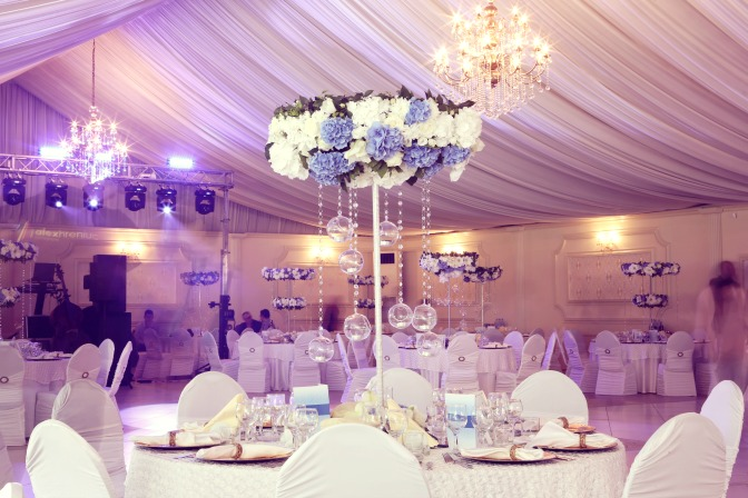 Lighting for wedding venues