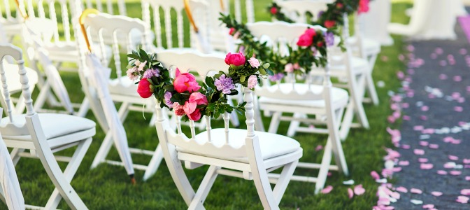 Decor for outdoor summer wedding