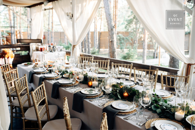 tablescape for an event
