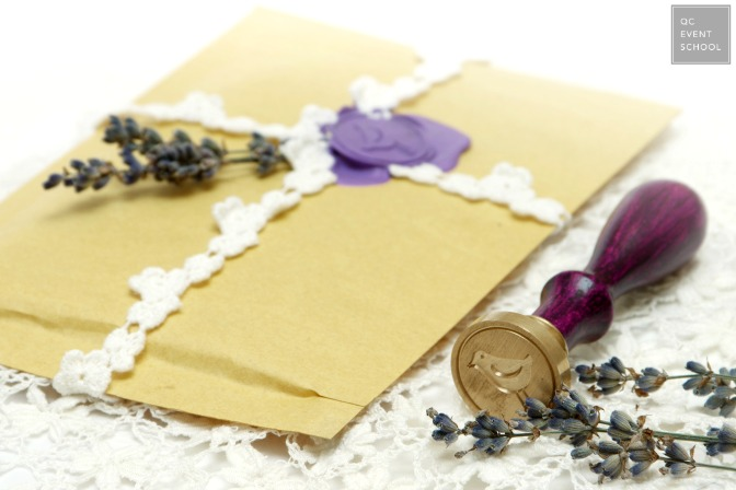 Creating invitations as a certified wedding planner