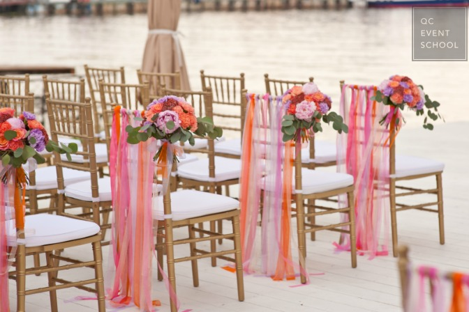 waterside wedding chairs for ceremony
