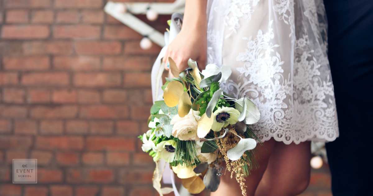 event planning trends - bride with her bouquet