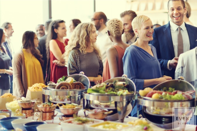 corporate networking with catering
