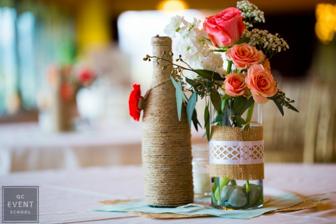 DIY rustic event decor