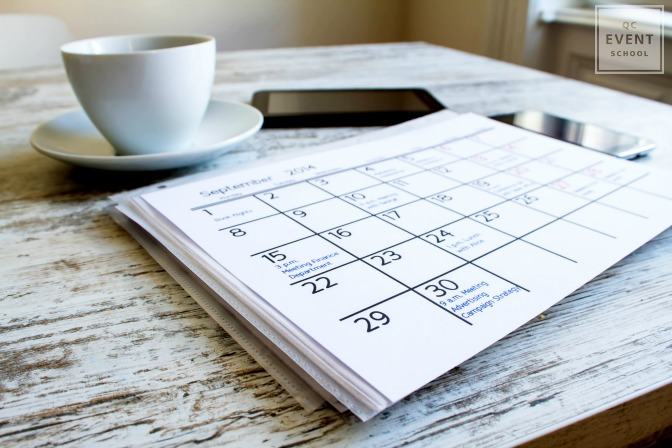 Event planner agenda and calendar gift