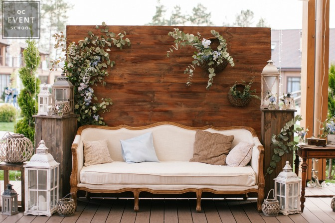 comfy event couch outdoors