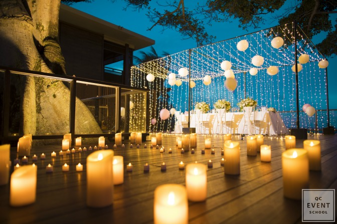 planning a night event with beautiful lights