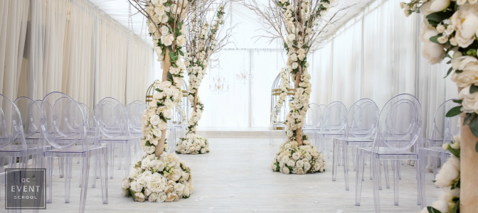 luxury floral wedding deocr