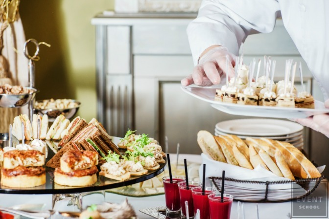 caterer at a party planning business