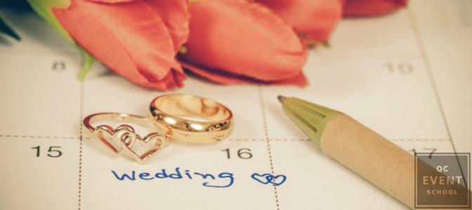 wedding coordinator's calendar