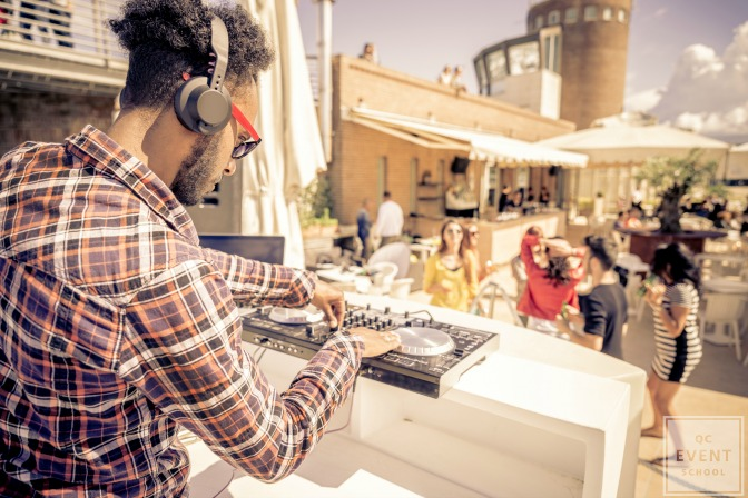 dj at an outdoor event